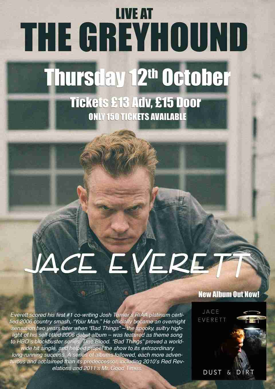 Jace Everett live at The Greyhound, Beeston 12/10/17
